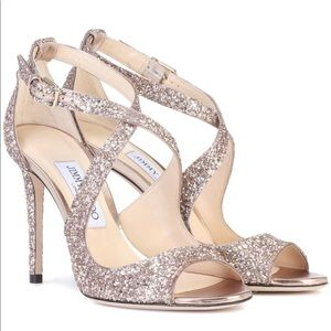 Jimmy Choo, Emily 100 Glitter Sandals